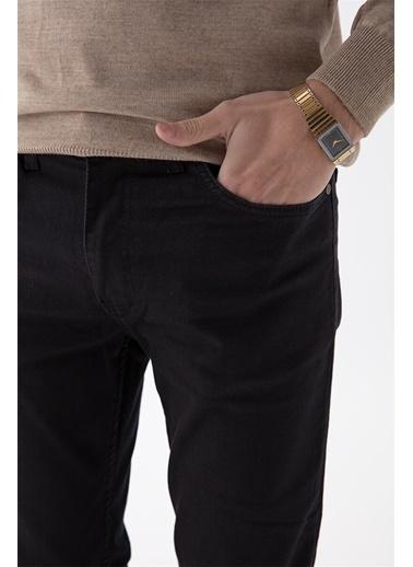 Modaplaza Erkek Slimfit Yıkama Siyah Kot Pantolon Siyah